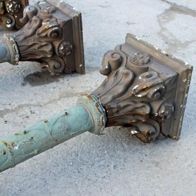 Victorian cast iron Corinthian columns