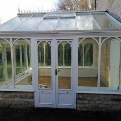 Amdega Richardson Wood Conservatory. Double glazed doors, windows & roof vent