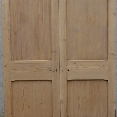 A set of pine double doors