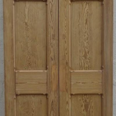Pitch pine double doors