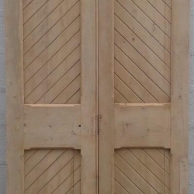 Victorian ex-church double doors in pine.