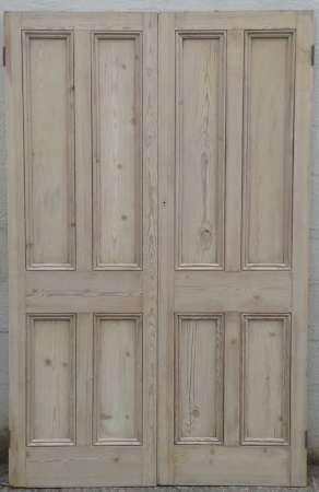 Victorian 4 paneled double doors.
