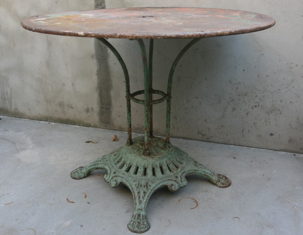 French cast iron 19th Century garden table
