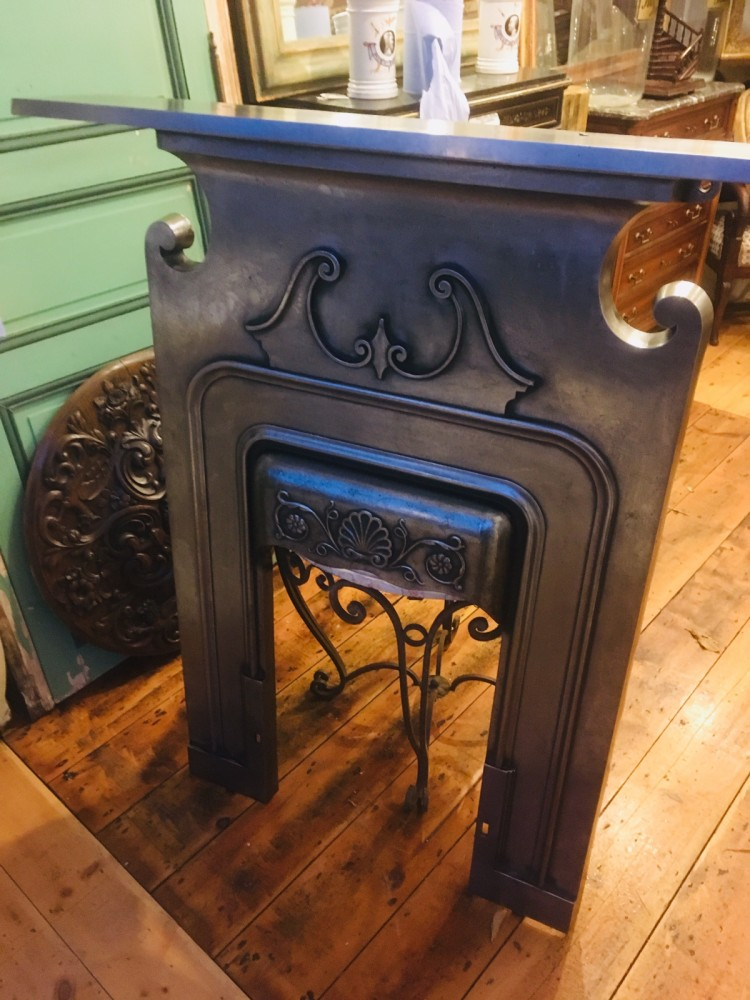 Beautiful pair of cast iron fireplaces