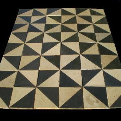 Antique encaustic tile - floors
