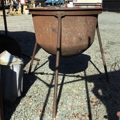 Cast Iron Boiler Cauldron on Stand