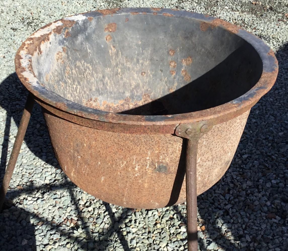 Vintage Cast Iron Cauldron on Stand