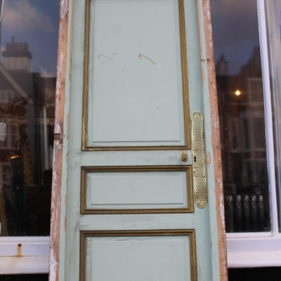 Beautiful French internal door with ornate lock and key