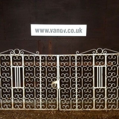 Reclaimed Wrought Iron Entranceway Gates