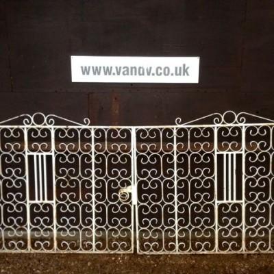 Reclaimed Wrought Iron Entranceway Gates