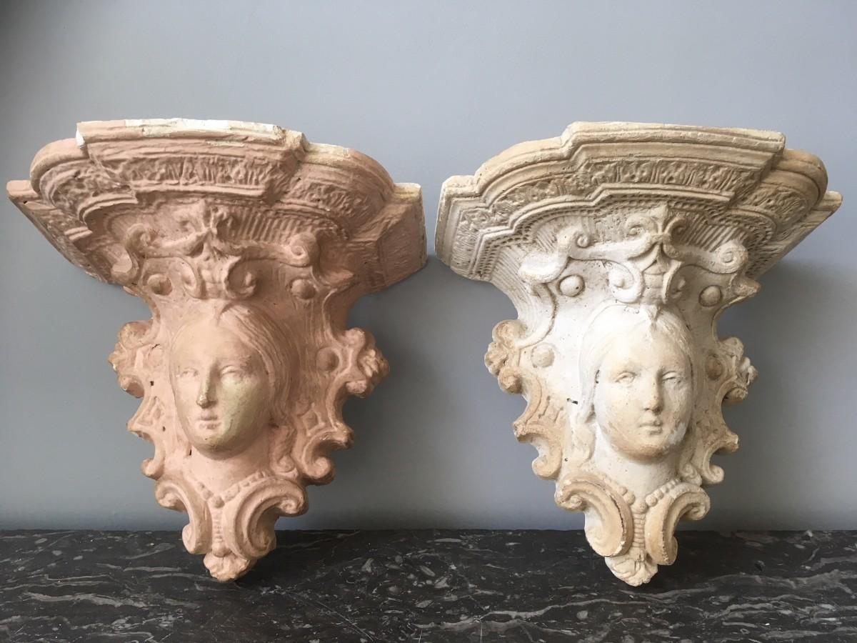Original Victorian Plaster Corbels