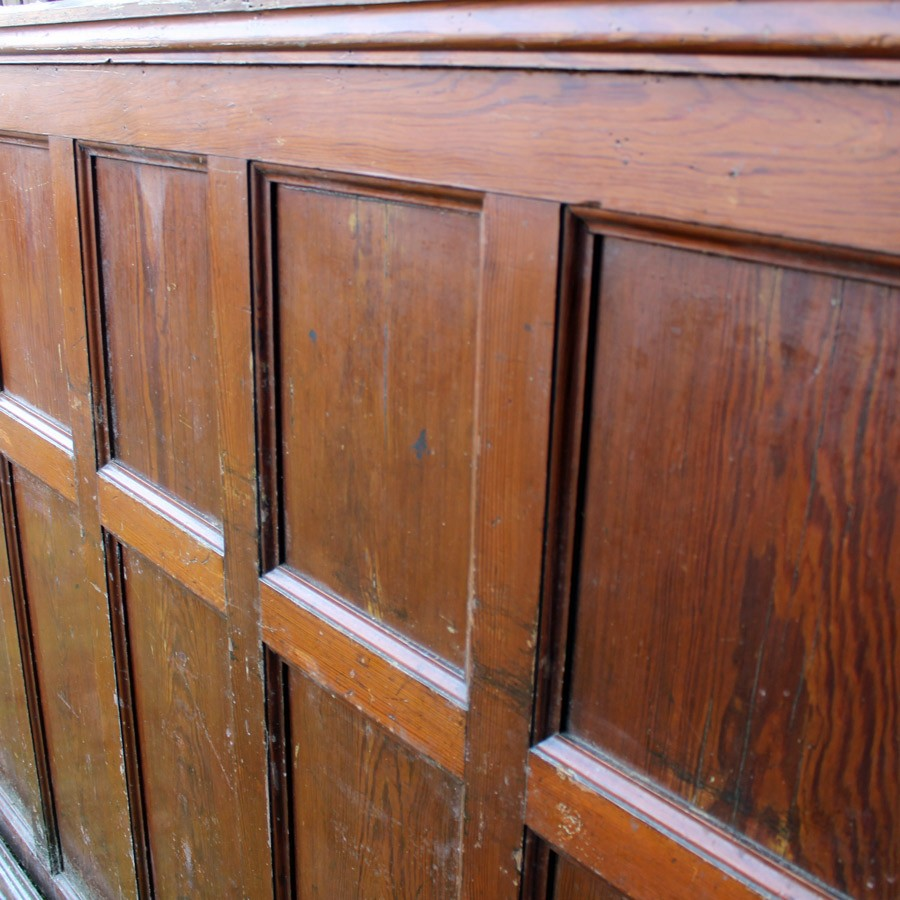 Victorian pitch pine panelling 50 mtrs