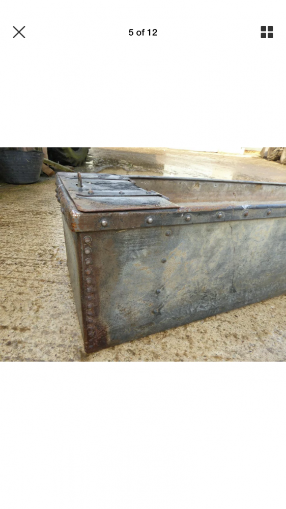 Galvanised trough