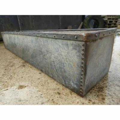 Galvanised trough