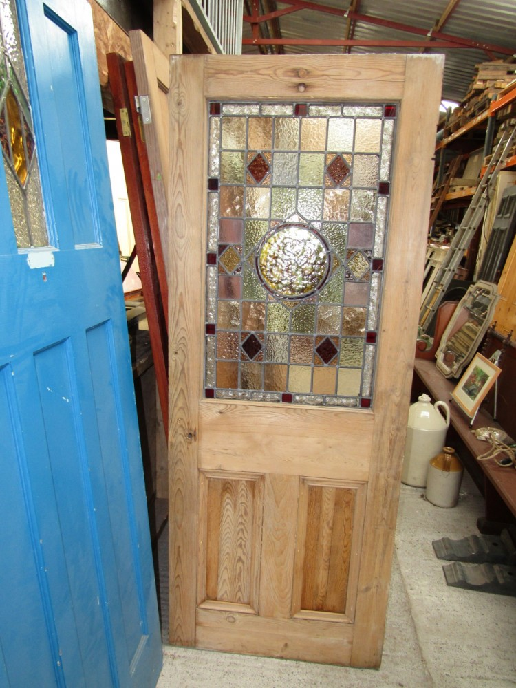 Stained glass /painted glass door