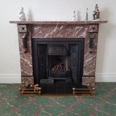 Rouge Marble Victorian Fireplace Surround