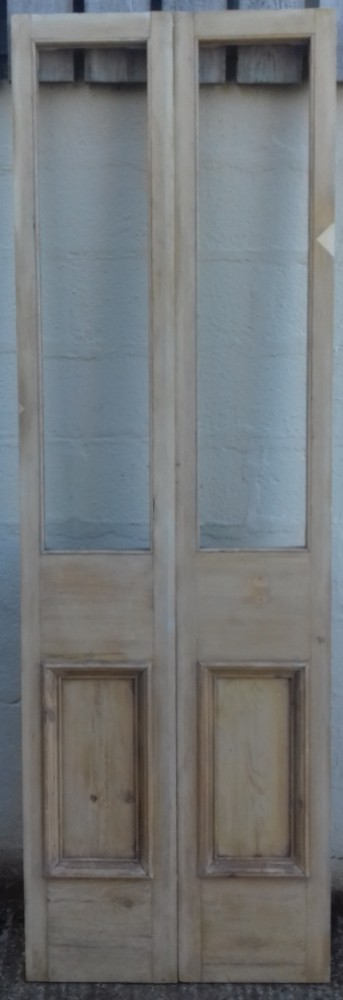 A pair of Victorian pine panels