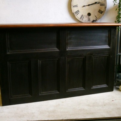 reclaimed panelled bar shop counter