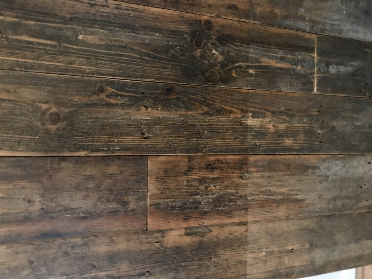 Reclaimed  Straight Edge Old Oily Mill Boards, Reclaimed Pine Floor Boards