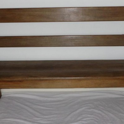 Victorian pitch pine bench