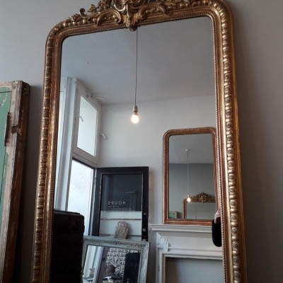 French Napoleon III Gilt Mirror