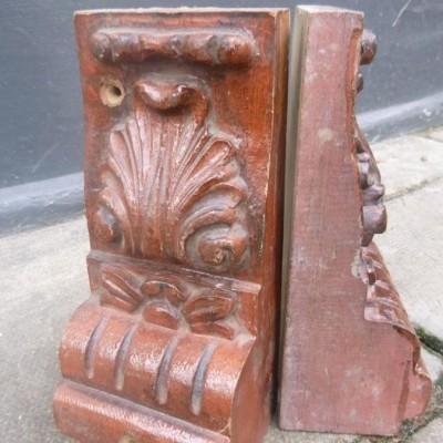 Antique Wooden Corbels