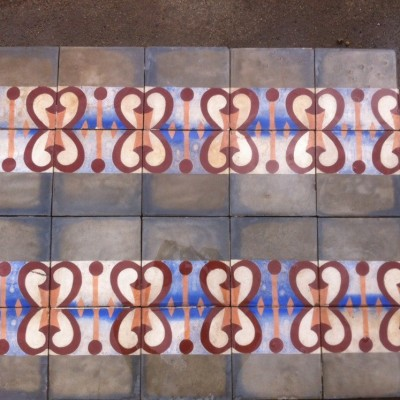 Antique patterned tiles