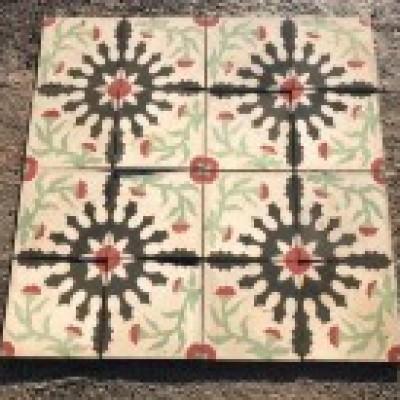 Antique encaustic tiles - total 15sqm
