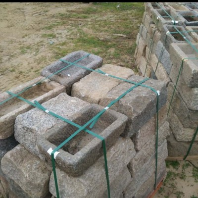 Antique stone troughs - planters
