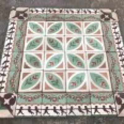 Antique patterned tiles - 10sqm