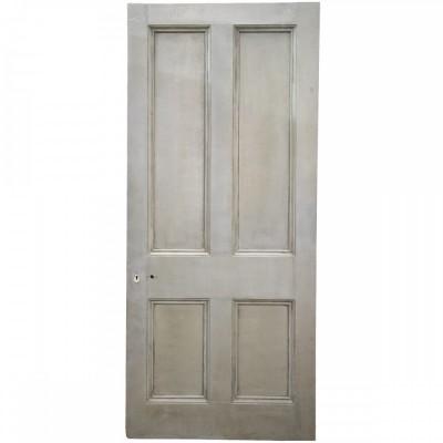 Large Antique Victorian Door - 206.5cm x 95cm