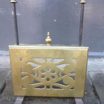 Antique Brass Fireside Pot Warmer