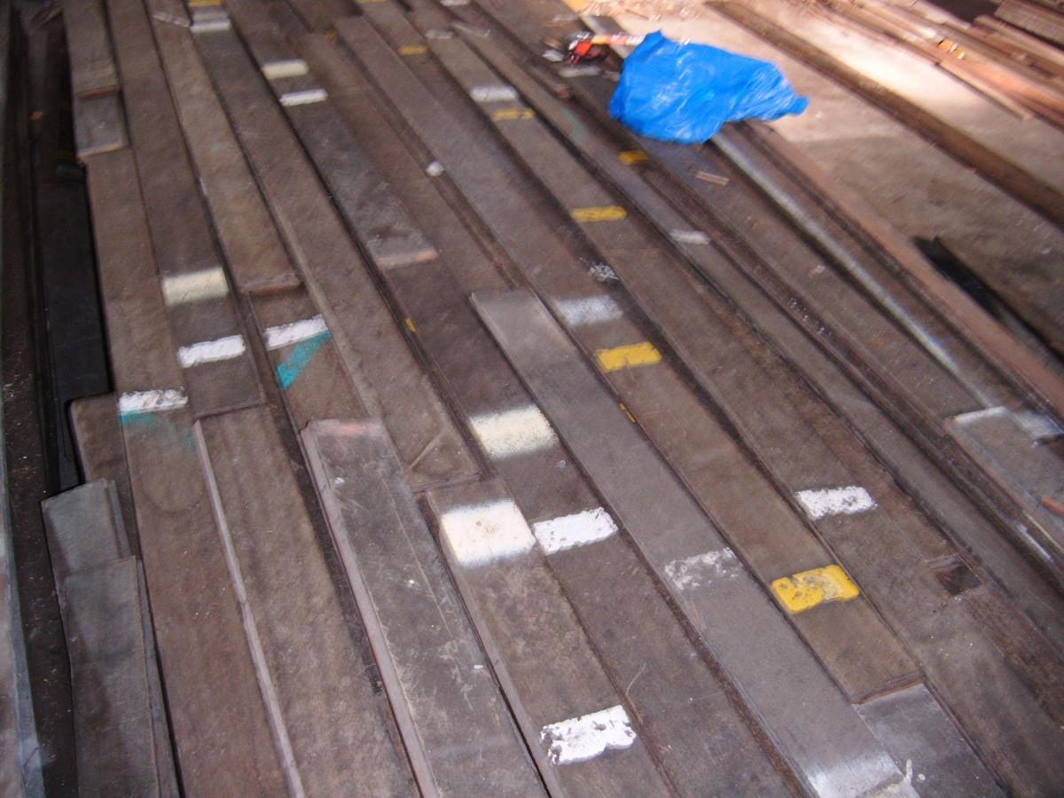 Reclaimed jarrah hardwood strip flooring