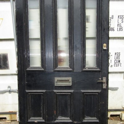 "Georgian glazed front door 48 1/2"" wide."