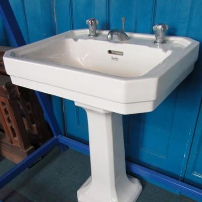 Large Art Décor Wash Hand Basin and Pedestal