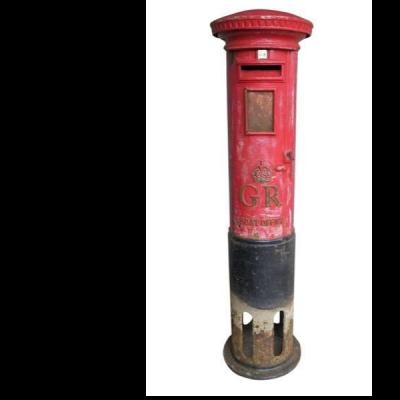 Original Post Office Unrestored Cast Iron GR Pillar Box
