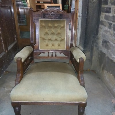 Chairs Inventive Solid Wood Edwardian Carved Set 5 Chairs Leather For Restoration For Sale