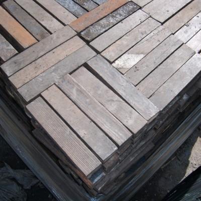 Pitch pine parquet flooring