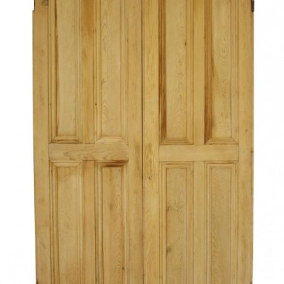 Pair of antique pine cupboard doors