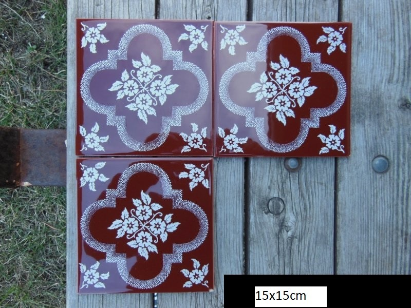 Retro glazed wall tiles