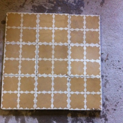 Antique encaustic tiles