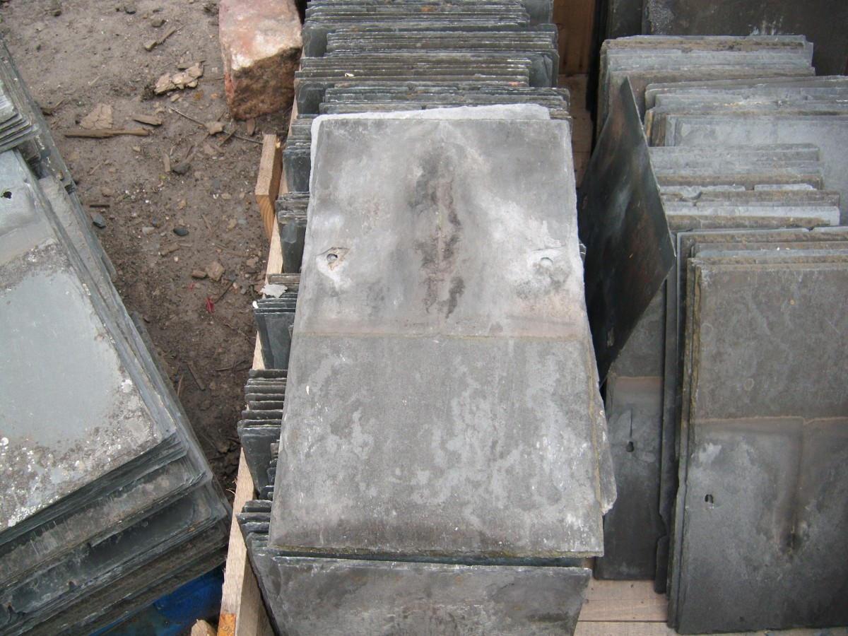 Reclaimed slates cornish , welsh clay tiles double roman tiles