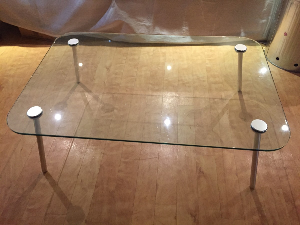 Italian Glass Coffee Table.Italian Designer Glass Coffee Table