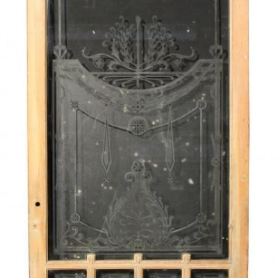 Antique French glazed door