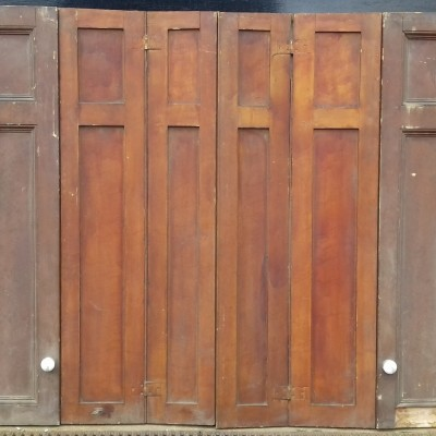 Antique pine window shutters
