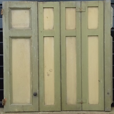Antique pine window shutters