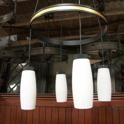 5 church chandeliers  light fittings 1960s