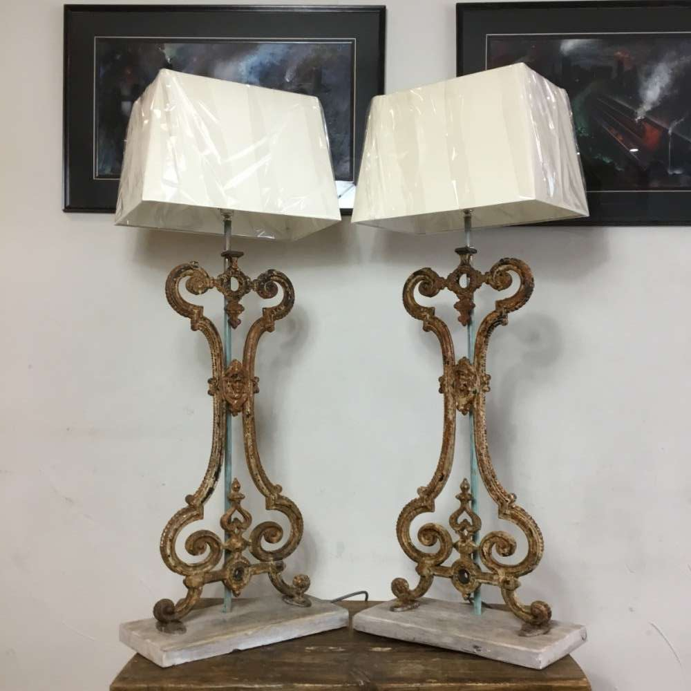 Cast Iron Floor Table Lamps