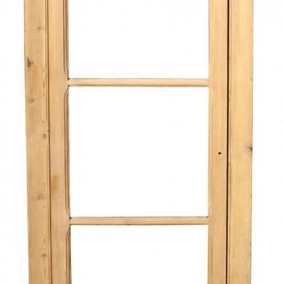 Antique pine cupboard door with frame