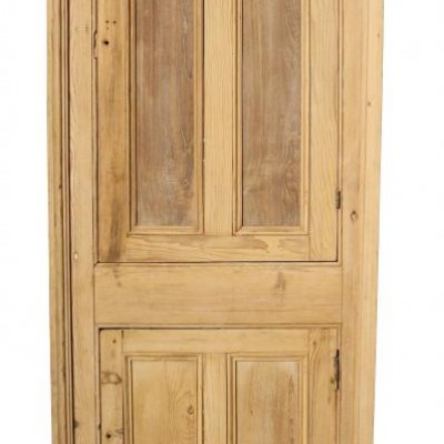 Antique pine cupboard front